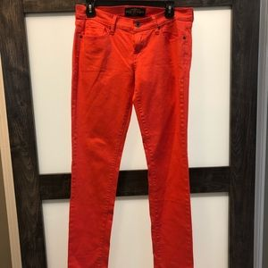 Lucky Brand Skinny coral colored jeans Size 8/29